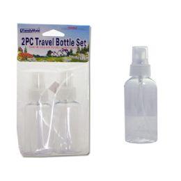 96 Units of TRAVEL BOTTLE SET 2PC PUMP - Travel & Luggage Items