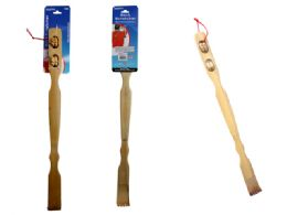 72 Units of 2 Piece Bamboo Backscratcher & Massager - Back Scratchers and Massagers