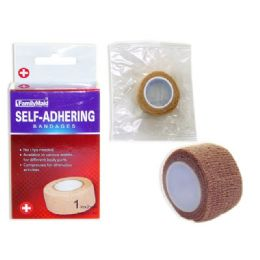 "144 Units of BANDAGE SELF-ADHERING 1"" CB. 1""X2YDS. BEIGE - Bandages and Support Wraps"