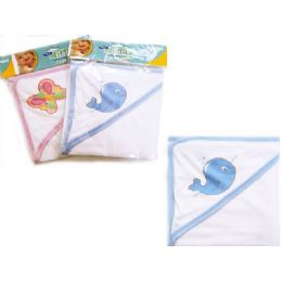 96 Units of Baby & Kids' Hooded Towel In Pink And Blue - Baby Apparel