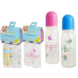 72 Units of Baby Bottles 8 oz- 2 Piece - Baby Bottles