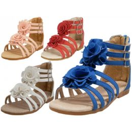 24 Units of Children Gladiator Sandals - Girls Sandals