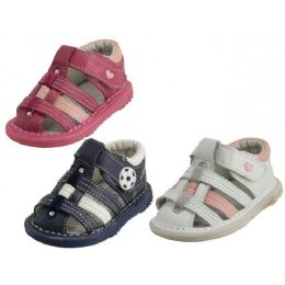 24 Units of Baby Leather Sandals - Toddler Footwear