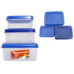 48 Units of 3 Piece Rectangle Food Containers - Food Storage Containers