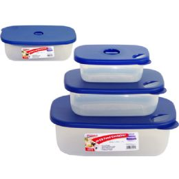 48 Units of 3 Piece Rectangle Container - Food Storage Containers