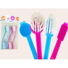 96 Units of Brush 4pc/set 2 Rd+2sq 2asst C - Cleaning Products