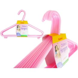 24 Units of 10pc Kids Hangers Pink Packing:24pc/ct - Hangers