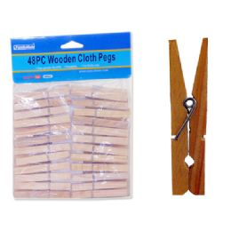 48 Units of CLOTH PEGS 48PC WOODEN - Clothes Pins
