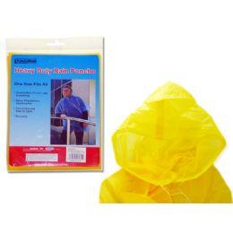 144 Units of Yellow Adult Poncho - Umbrellas & Rain Gear