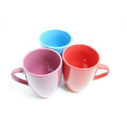 "72 Units of MUG 13OZ 3.5DIA*4.5""J ASST BLUE PINK GREEN RED CLR - Coffee Mugs"