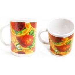 72 Units of Mug 11oz W/printing Fruit - Coffee Mugs