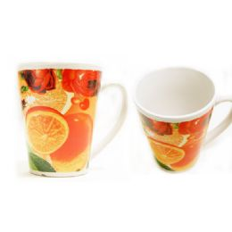 72 Units of Mug 12 Og W/printing Fruit - Coffee Mugs