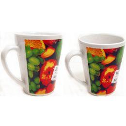 72 Units of MUG 12OZ W/PRINTING FRUIT - Coffee Mugs