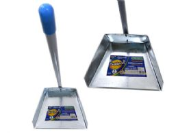 48 Units of Metal Dust Pan With Handle - Dust Pans
