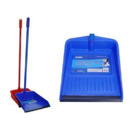 72 Units of Dustpan W/handle 85cm W/rubber - Dust Pans