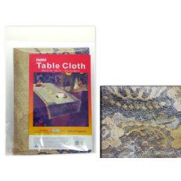 144 Units of TABLECLOTH SILK FLO 1.4X0.8M - Table Cloth