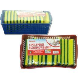 48 Units of 13 Piece Scrubber Sponge Set - Scouring Pads & Sponges