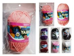96 Units of Yarn In 6 Assorted Colors - Sewing Supplies