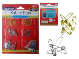 144 Units of 120 Piece Safety Pins - Sewing Supplies