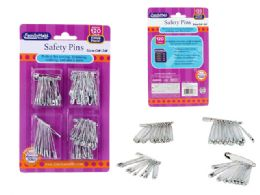 144 Units of 120 Piece Safety Pins Set - Sewing Supplies