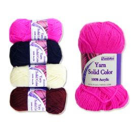 72 Units of Yarn Solid Color - Sewing Supplies