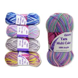 72 Units of Yarn Multi Color 60gm 8ass - Sewing Supplies
