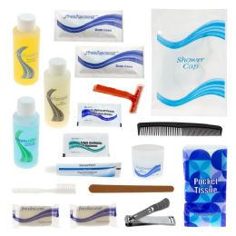24 Units of 19 Piece Hygiene & Toiletry Kit For Men, Women, Travel, Charity - First Aid and Hygiene Gear