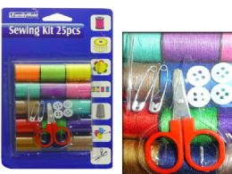 144 Units of 25pc Sewing Kit - Sewing Supplies