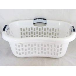 24 Units of Laundry Basket W/4 Handle wt - Laundry  Supplies
