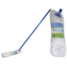 72 Units of Mop #24 400gm 1.2m Handleopp+wl - Cleaning Products