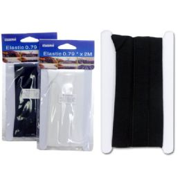 "96 Units of Elastic 0.79""x2m White & Black - Sewing Supplies"