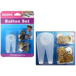 108 Units of BUTTON SET W/DISPLAY BOX - SEWING BUTTONS