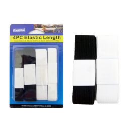 144 Units of 4 Piece Elastic Lengths - Sewing Supplies