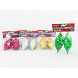 144 Units of Xms Decoration Hanging 2 Piece Set - Christmas Decorations