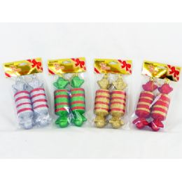 144 Units of Xmas Candy 2 Piece Set - Christmas Ornament