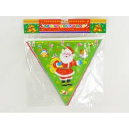 96 Units of Xmas Flag 8pcs - Christmas Novelties