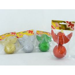 144 Units of Xms Angel On Ball - Christmas Novelties