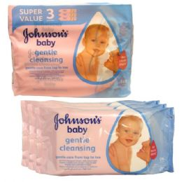 12 Units of J & J Baby Wipes 56CT 3PK - Baby Beauty & Care Items