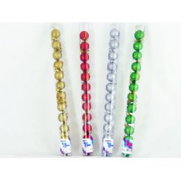 96 Units of Xms Ball 12pc/set 3cm 4asst C - Christmas Ornament