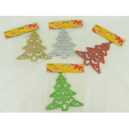 144 Units of Xms Tree 16cm 4asst Clr - Christmas Novelties
