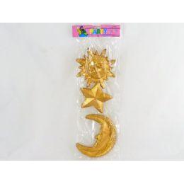 144 Units of Decoration, Pl Star, Moon Andsun - Christmas Decorations
