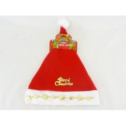 96 Units of Xms Hat 28x38cm Red Clr - Christmas Novelties