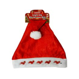 144 Units of Christmas Santa Hat Deer Light up - Christmas Novelties