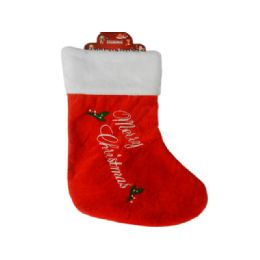 144 Units of Christmas Stocking Lettering Embroidered - Christmas Stocking