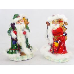 72 Units of Pr Santa 4asst W Fur - Christmas Novelties