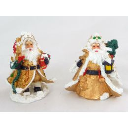"72 Units of Poly Santa Claus Gold 4/asst4"" - Christmas Novelties"