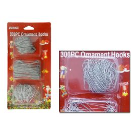 "72 Units of Safety Pins 300 Pcs White Clr 1 1/4"" 200pc +2 1/2"" 100pc - Christmas Novelties"