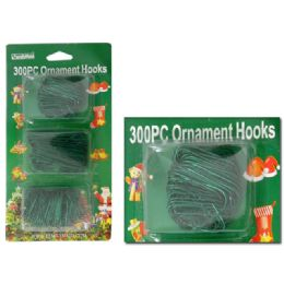 "72 Units of Safety Pins 300 Pcs Green Clr 1 1/4"" 200pc +2 1/2"" 100pc - Christmas Novelties"