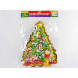 72 Units of Xmas Tree W/gold String - Christmas Novelties