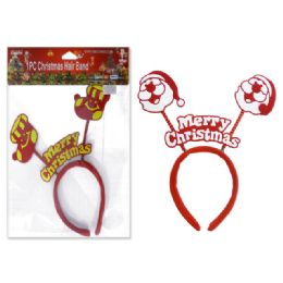 144 Units of 1 Piece Christmas Hair Band - Christmas Novelties